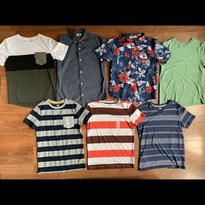 Other - Lot boys 10 12 shirts v neck button down dressy